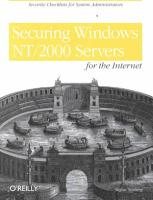 Securing Windows NT 2000 Servers for the Internet PDF