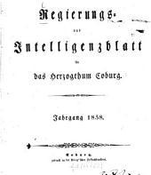 Regierungs- und Intelligenzblatt für das Herzogtum Coburg: 1858
