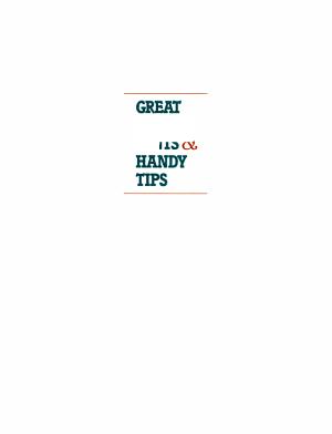 Great Health Hints   Handy Tips PDF
