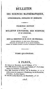 Bulletin universel des sciences et de l'industrie: Bulletin des sciences mathématiques, astronomiques, physiques et chimiques, Volume4