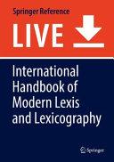 International Handbook of Modern Lexis and Lexicography PDF