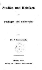 Studien und Kritiken zur Theologie und Philosophie