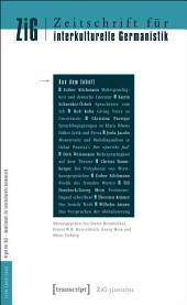 Zeitschrift für interkulturelle Germanistik: 3. Jahrgang, 2012, Ausgabe 2