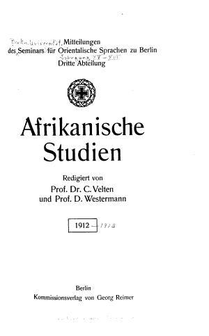 Mittheilungen des Seminars f  r orientalische Sprachen an der K  niglichen Friedrich Wilhelms Universit  t zu Berlin PDF