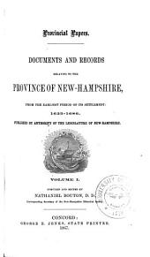 Provincial and State Papers: Volume 1