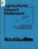 Agricultural Impact Statement  Addendum to Fort Atkinson Bypass  Jefferson County PDF