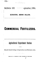 Bulletin - Agricultural Experiment Station, University of Rhode Island: Volumes 102-122