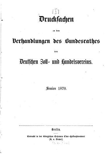 Protokolle   ber die Verhandlungen des Bundesrathes des Deutschen Zoll  und Handelsvereins PDF