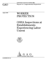 Worker protection   OSHA inspections at establishments experiencing labor unrest   report to Congressional requestors PDF