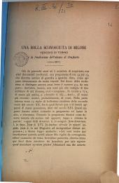 Una bolla sconosciuta di Milone vescovo di Torino e la fondazione dell'abazia di Confiento (1170-1188?)