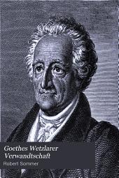 Goethes Wetzlarer Verwandtschaft