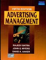 Advertising Management PDF