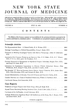 New York State Journal of Medicine PDF