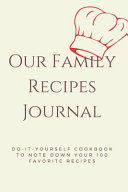 Our Family Recipes Journal