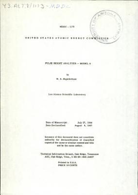 Pulse Height Analyzer   Model A