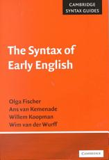 The syntax of early English PDF