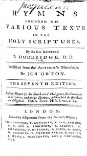 Hymns ... Published from the author's manuscript by Job Orton. The seventh edition