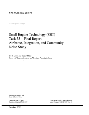 Small Engine Technology  SET   Task 33  Airframe  Integration  and Community Noise Study