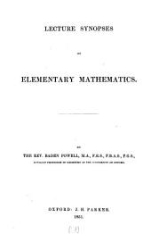 Lecture synopses of elementary mathematics: Volume 13