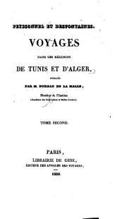 Fragmens d'un voyage dans les régences de Tunis et d'Alger, fait de 1783 à 1786, par Louiche René Desfontaines