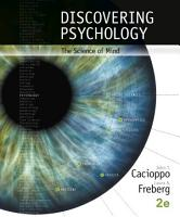 Discovering Psychology  The Science of Mind PDF