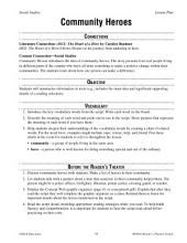Community Heroes Reader's Theater Script and Lesson