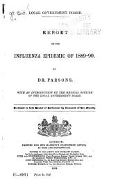 Report on the Influenza Epidemic of 1889-90