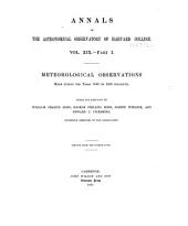 Annals of the Astronomical Observatory of Harvard College: Volume 19