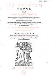 Testamentum Novum, sive Novum foedus Jesu Christi, D. N.