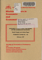 Towards a Structural VAR Model of the Australian Economy PDF