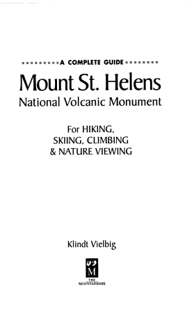 Mount St  Helens National Volcanic Monument PDF