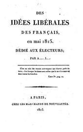 Des idees liberales des Francais, en mai 1815