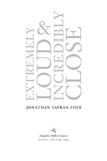Extremely Loud and Incredibly Close Book