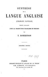 Synthèse de la langue anglaise (Charles Saville)