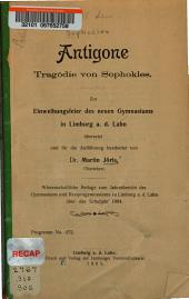 Antigone: tragödie von Sophokles ...