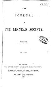 The Journal of the Linnean Society: Zoology, Volume 13
