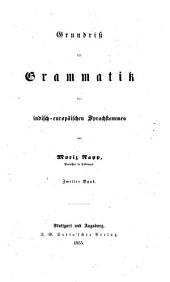 Grundriss der Grammatik des indisch-europäischen Sprachstammes: Band 2