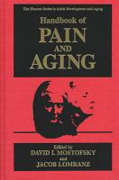 Handbook of Pain and Aging PDF