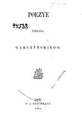 Poezye Stefana Garczyńskiego