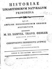 Historiae logarithmorvm natvralivm primordia