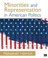 Minorities and Representation in American Politics PDF