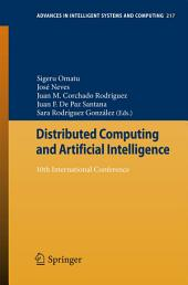 Distributed Computing and Artificial Intelligence: 10th International Conference