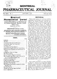 Montreal Pharmaceutical Journal