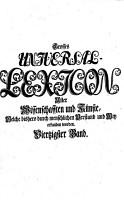 Grosses vollst  ndiges Universal Lexicon aller Wissenschaften und K  nste PDF