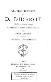 Œuvres choisies de D. Diderot: Contes et mélanges. 1877