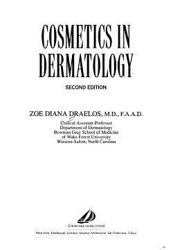 Cosmetics in Dermatology PDF
