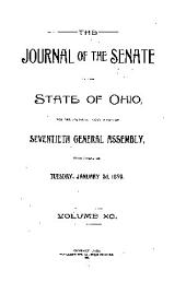 Journal of the Senate of the ... General Assembly of the State of Ohio ...: Volume 90