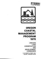 Oregon Coastal Management Program: Environmental Impact Statement