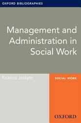 Management And Administration In Social Work Oxford Bibliographies Online Research Guide Book PDF