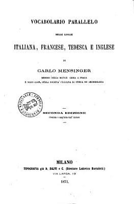 Vocabolario parallelo delle lingue italiana  francese  tedesca e inglese PDF